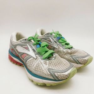 Brooks Womens Ravenna DNA Running Shoe White/Green